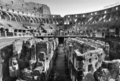 Inside the Coliseum (Ben Heine) Tags: city italy rome roma history monument architecture photography report arches urbanexploration coliseum discovery benheine