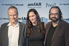 Hans Ulrich Obrist, Bettina Korek and Ari Benjamin Meyers amfAR inaugural benefit at the Soho Beach House during Art Basel Miami Miami Beach