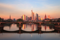 Good morning Frankfurt (tuxahanoi) Tags: skyline germany frankfurt flserbrcke