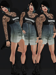 PunkRocker - Villena, Magika & Death Row Designs (Ginger Krokus) Tags: fashion clothing punk grunge sl secondlife ramones shock gingersnaps league styling drd blackfeet magika villena deathrowdesigns gingerkrokus