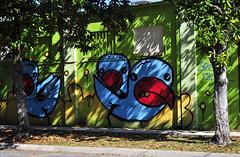 Mad as a . . .  an Angry Bird! :) (BKHagar *Kim*) Tags: blue urban art graffiti la mural louisiana grafitti neworleans angry mad bluebirds bkhagar