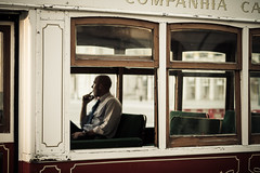 Memories from Lisboa (Cedpics) Tags: portugal train lisboa tram passenger passager tramway lisbonne electrico pracadecomercio ef50mmf14usm