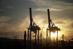 [275/366] (puzzlescript) Tags: sunset harbour crane vizag kesari visakhapatnam ravigopal