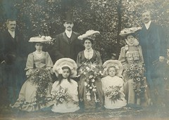 1906 wedding (sctatepdx) Tags: wedding tophat 1906 vintagedresses vintagehats vintagewedding vintageweddingportrait vintagebouquets vintageweddingbouquets antiqueweddingportrait vintageweddingclothes
