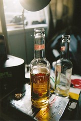 (emilyharriet) Tags: stilllife film beer 35mm canon book ae1 tequila trainspotting desperados
