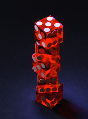 Stack-O-Dice (Foto-Mike) Tags: lighting red 2 dice canon lens photography eos die head tripod stack professional clear ii mm transparent dslr product 1785 efs 580ex manfrotto strobes speedlite 19mm 50d strobist speedlites 055xprob 808rc4