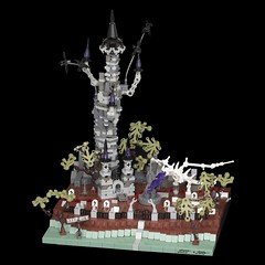 Witch Spire (pasukaru76) Tags: tower castle lego diorama canon100mm microscale sierconandcoral witchspire