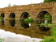 White Mill Bridge (vintage vix - Everything is a miracle) Tags: reflection riverstour dorset whitemillbridge