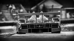 LMP 2 Porsche Spyder (speedcenter2001) Tags: roadamerica hawk vintage vintageracing historic race racecar racetrack blackandwhite monochrome motorsports racing wisconsin elkhartlake elkhart porsche nikplugins silverefexpro2 nikon600mmf40edifais tc16a lmp2 sportscar rennsport