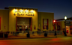 Fine Dining on Main Street (guyhawkins) Tags: dinos restaurants architecture nighttime city grapevine