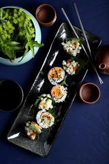 IMG_0011 (Olives for Dinner) Tags: sushi mushrooms vegan sushiroll enoki enokimushroom vegansushi