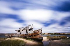 A Beloved Icon - Point Reyes Shipwreck (Eunice Eunjin Oh) Tags: shipwreck pointreyesnationalseashore pointreyesboat inverness longexposure leefilter reflection bigstopper marincounty tomalesbay sanfrancisco boat