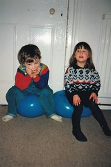 Tom and Georgie 1990's (Bury Gardener) Tags: family friends relatives oldies 1990s