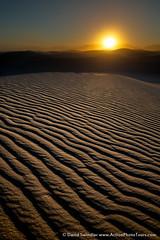 Ripples (David Swindler (ActionPhotoTours.com)) Tags: haze sanddunes newmexico sand sunset ripples whitesands