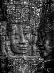 patrickrancoule-446 (Patrick RANCOULE) Tags: angkor angkorwat bouddha cambodge cambodia architecture bouddhisme noiretblanc sculptures temple visage