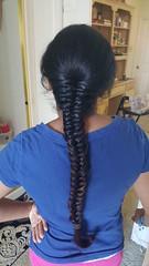 Hubby's help again (hairchick82) Tags: fishtailbraid fishtail braid plait khajoorichoti khajoori choti