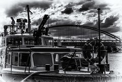 the lightship (sonofphotography) Tags: bw blackandwhite blackwhite fire lightship clouds bridge river summer outdoor street photography art worldthroughmyeyes tsphotoart beauty bautyful amazing day portrait fashion landscape welcome frankfurt am main
