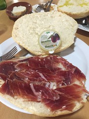 Travelling fayre (touring_fishman) Tags: iberico ham bocadillo september spain 2016 journey lunch food