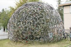 Bicycle Dome (Steven Olmstead) Tags: publicart bicycle oddities yukon whitehorse