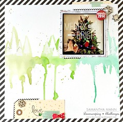 merry & bright (feet up) layout - ls, watermark (samanthamann11) Tags: lawnfawn scrapbook christmas watercolor distressinks heatembossed letitsnow peacelovejoy snowybackdrops