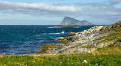Looking towards Hja from Edya on a windy day (Snemann) Tags: august troms smcpda1650mmf28edalifsdm pentaxk5 justpentax troms norway coast coastline sea ocean