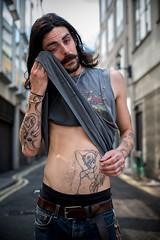 Sabastian (antonywakefield) Tags: tattoos london soho streetportraiture urban portrait cool fuji