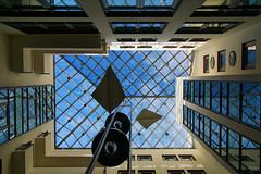 Ein Blick nach oben hat sich gelohnt (ingrid eulenfan) Tags: leipzig speckshof oben perspektive himmel sky innenhof architektur