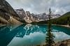 Moraine Lake (TheReilDeal) Tags: banff banffnationalpark morainelake valleyofthetenpeaks mountains lake glacier alberta turqoise reflection