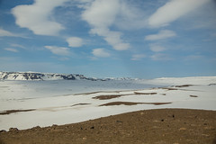 Krafla Viti Crater 06 (sarahmonious) Tags: kraflaviticrater kraftla viti myvatn kraftlavolcano volcanocrater crater hverir snow route1iceland route1 ringroad iceland iceland2016 icelanding2016 traveling