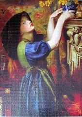 Marigolds (pefkosmad) Tags: dantegabrielrossetti preraphaelite art painting woman female girl jigsaw puzzle hobby pastime leisure peonypress annesspublishingltd 1000pieces complete 50x70cm victorianportraits marigolds