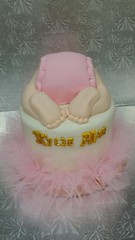 Baby Butt cake (dragosisters) Tags: diaper girl tutu pink cake babybutt