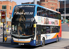 10538 SN16 ONC (Cumberland Patriot) Tags: stagecoach north west on in merseyside alexander dennis ltd adl enviro 400 400mmc mmc e400mmc 10538 sn16onc low floor dd double decker deck buses glenvale transport liverpool queen square bus station city centre 14a service passenger vehicle