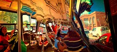 TumbleWorld/ Warp Dr'EYE've:  Dundas Streetcar, Westbound #1 (Visionheart - Away a Lot :-() Tags: tumbleworld warpdreveve panoramicart panosabotage panoramicsabotage iphonepanoramicsabotage appleiphone6 photomanipulation streetscapes city urban streetcarviews streetcars exploreaug272016