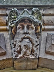Stone Faces, Leeds Town Hall, UK, 27082016  JCW1967, OPE, HDR (5) (jcw1967) Tags: leedstownhall stonefaces carvedheads architecture historical hdr oloneo