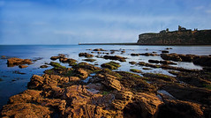 Tynemouth (Caleb4ever) Tags: caleb4ever tynemouth water sea ocean blue sky rocks le longexposure cliffs scenery scene scenic seascape lighthouse clouds