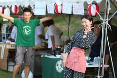 Selling An Mitsu at the Wazuka summer festival (Obubu Tea Farms) Tags: festival greentea japan japanesetea obubu obubutea tea teafestival wazuka