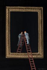 Macro Monday's Mirror (Eugene Lagana) Tags: macro mondays monday mirror preiser 187 mini ho scale toy toys surreal surrealism men suits suit man latter peeking