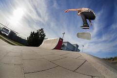 Jon Faulkner, fakie inward heel revert at Cardiff plaza. (mortimerphotographic) Tags: 5d canon