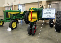 1951 John Deere And 1950 Oliver Row Crop 66 Tractors. (dccradio) Tags: fayetteville nc northcarolina cumberlandcounty cumberlandcountyfair fair countyfair festival communityevent entertainment fun event crowncomplex civiccenter ag agriculture agricultural farmequipment machinery equipment implements tractor tractors farmmachinery vintage classic antique old johndeere 430 green yellow red oliver rowcrop 66