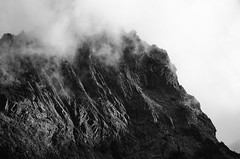 Mist rolling over a sunlit rockface (michaelallanfoley) Tags: nikon d7000 300 300mm f4 f4e pf phase fresnel vr