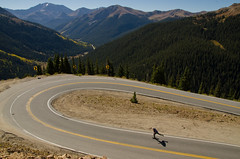 Independence Pass (AWDPWNZ) Tags: skate skateboard skateboarding skateboarder hill bomb colorado rado co aspen independence pass fall nikon mountains leafers