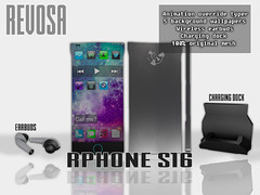 REVOSA rPhone s16 (merylimperil) Tags: second life revosa smartphone phone mesh animation override typer earbuds wireless dock charging prop accessory held avatar wallpapers