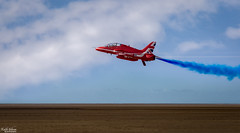 Low Pass (wiganworryer) Tags: keith gibson wiganworryer canon 7d mark 2 mk ii 2016 photo photography image picture action optical southport air show beach merseyside north west airshow aviation craft aircraft plane flying red arrows display team raf aerobatics stunt fly past flypast blue sky summer weather hawk outdoor diagonal 400mm f56 l series fixed prime lens vapour trail trails
