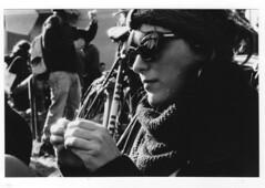 img1402 (la Drugo) Tags: girl ragazza people sunglasses occhiali sigaretta cigarette blackandwhite canon analogic saracca oliveto funerale open allaperto park parco primopiano closeup sciarpa scarf
