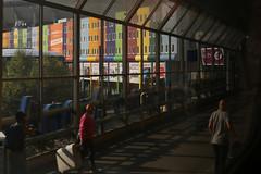 a glimpse of color (Elly Snel) Tags: amsterdam stad city traintation treinstation colors kleuren arena stadium