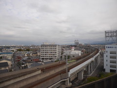 The railway lines divide (seikinsou) Tags: japan spring haruka train jr railway kix kansai airport shinosaka track rail