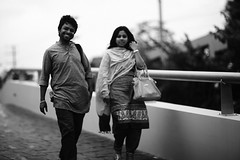 Julu & his Julie (N A Y E E M) Tags: julu jewelpaul photographer curator girl friend candid portrait driveway hotel radissonblu ramadan afternoon chittagong bangladesh windshield