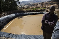 Awol a farmer who uses water harvesting structure for homegardening (International Livestock Research Institute) Tags: water watershed ethiopia climatechange unep wollo ilri worieluethiopia kabewatershed