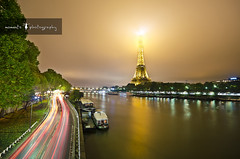Paris, je t'aime (PNike (Prashanth Naik..back after ages)) Tags: sky paris france tower water clouds boats nikon europe long exposure eiffel le pari siene d7000 pnike