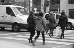 hustle (photoluver1) Tags: street people blackandwhite woman black streets building sepia buildings women candid cities cityscapes streetlife peoples chicks sidewalks streetpeople peoplewatching streetphotgraphy peoplwatching streetphotograghy streetphotogarphy